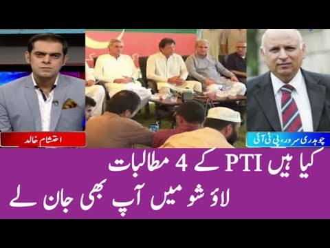 PIT 4 Big Demands : PTI Chaudhry Sarwar Views | Run Down