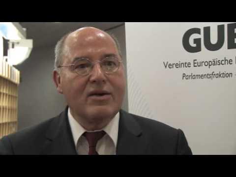 Gregor Gysi interview on European integration - Lisbon treaty