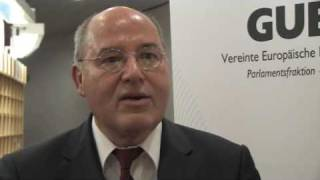 Gregor Gysi interview on European integration - Lisbon treaty