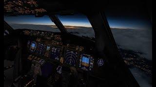 Microsoft Flight Simulator X| на B737| VATSIM| Пожары двигателей