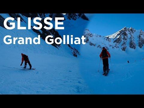 Grand Golliat Couloir Nord-Est pente raide Val Ferret Suisse ski de randonnée snowboard - 11403