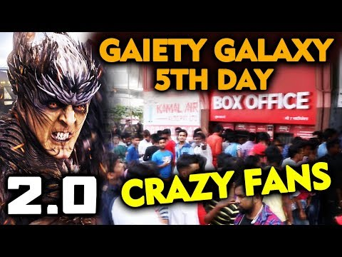 2.0 Movie | Gaiety Galaxy | 5th Day | Akshay-Rajinikanth Fans का पागलपन