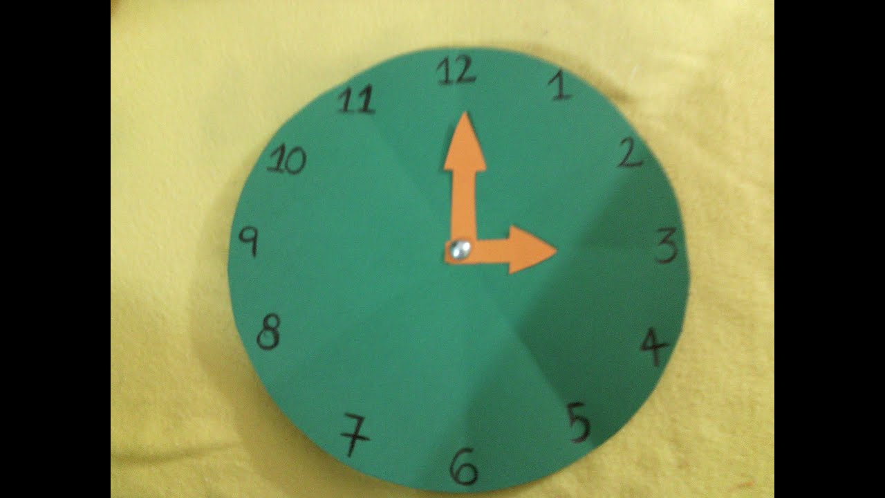 Reloj elaborado en cartulina youtube - Hacer reloj de pared con fotos ...