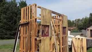 Off Grid Bathroom Wild West Pallet style #7 The Angle of the Dangle
