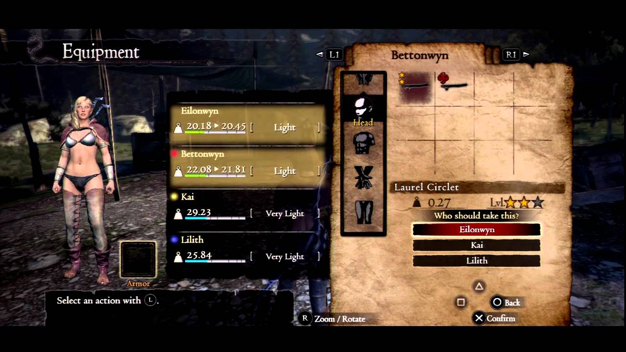 Dragon S Dogma Dark Arisen All Level 3 Cursed Armor And Weapons