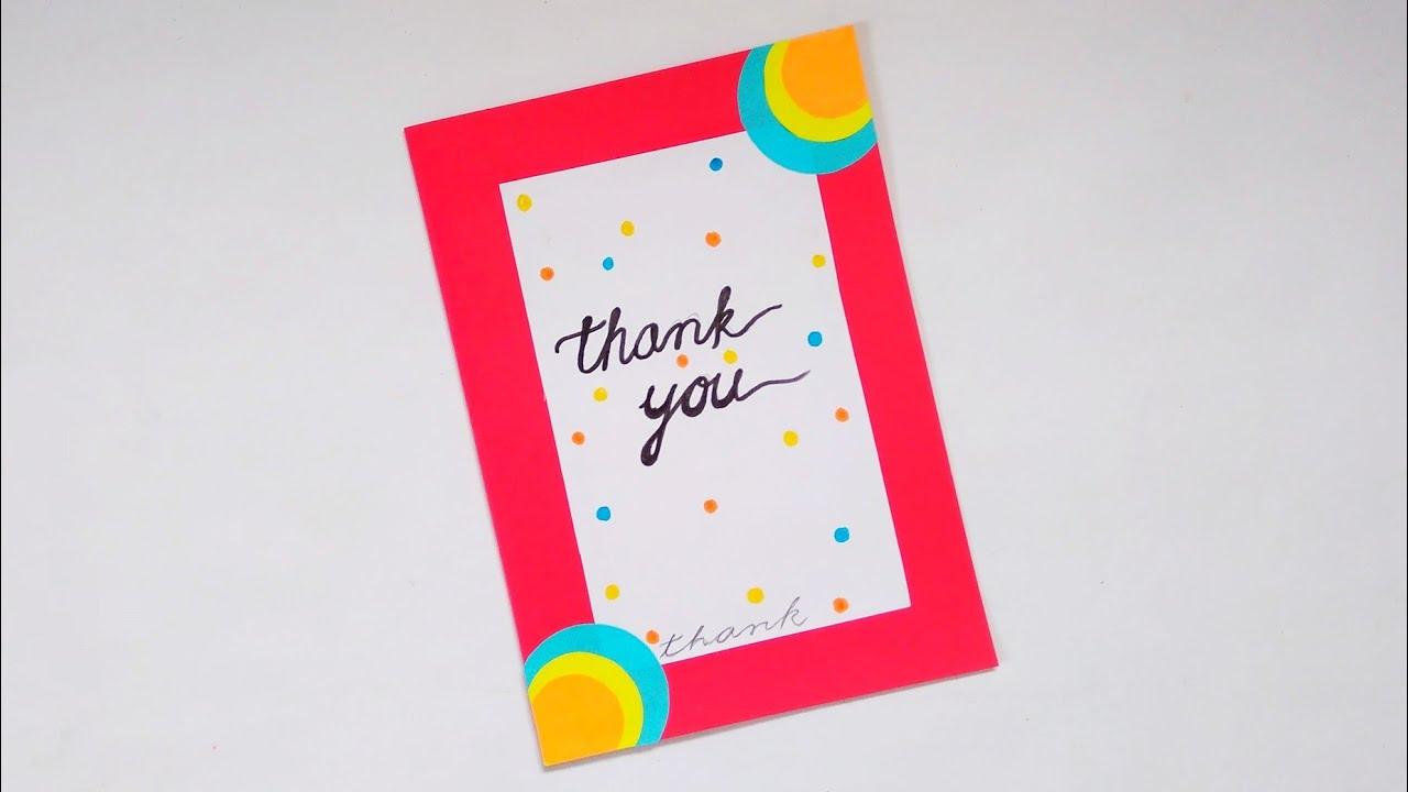 A Beautiful Thank You Card