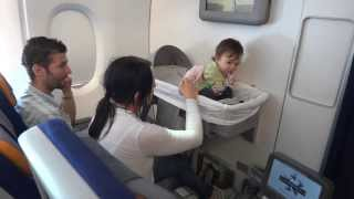 A 380 -841 Lufthansa - Travelling with baby. From Shanghai to Frankfurt .
