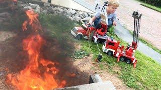 BRUDER FIRE TRUCKs in Action! LONG PLAY Construction Fail