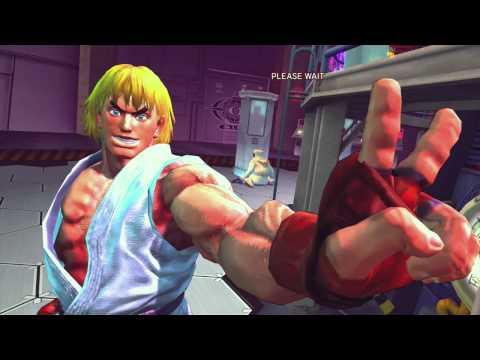 Vanilla Street Fighter IV. Arcade Mode With Ken.