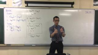 Logarithms Review (1 of 4: Using Log Laws to solve Log Equations)