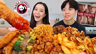 Our PANDA EXPRESS FAVORITES MUKBANG! (Lo Mein Noodles + Orange Chicken + Honey Walnut Shrimp)