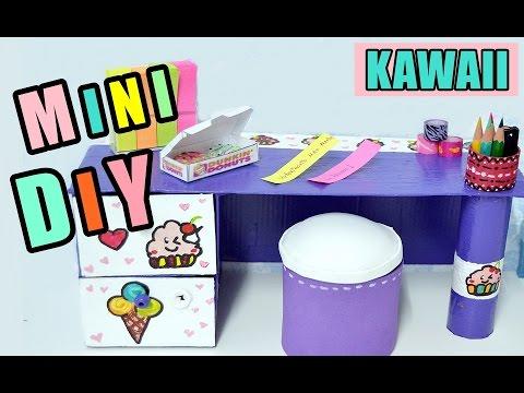 Mini escritorio organizador kawaii manualidades f ciles - Manualidades para realizar en casa ...