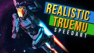 REALISTIC TRUEMU! - Minecraft Universe Speedart by Rushlight Invader!