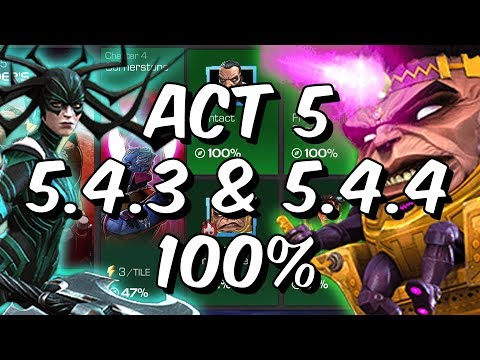 Act 5 Chapter 4 - 5.4.3 & 5.4.4 100% - Free To Play Adventures! - Marvel Contest Of Champions