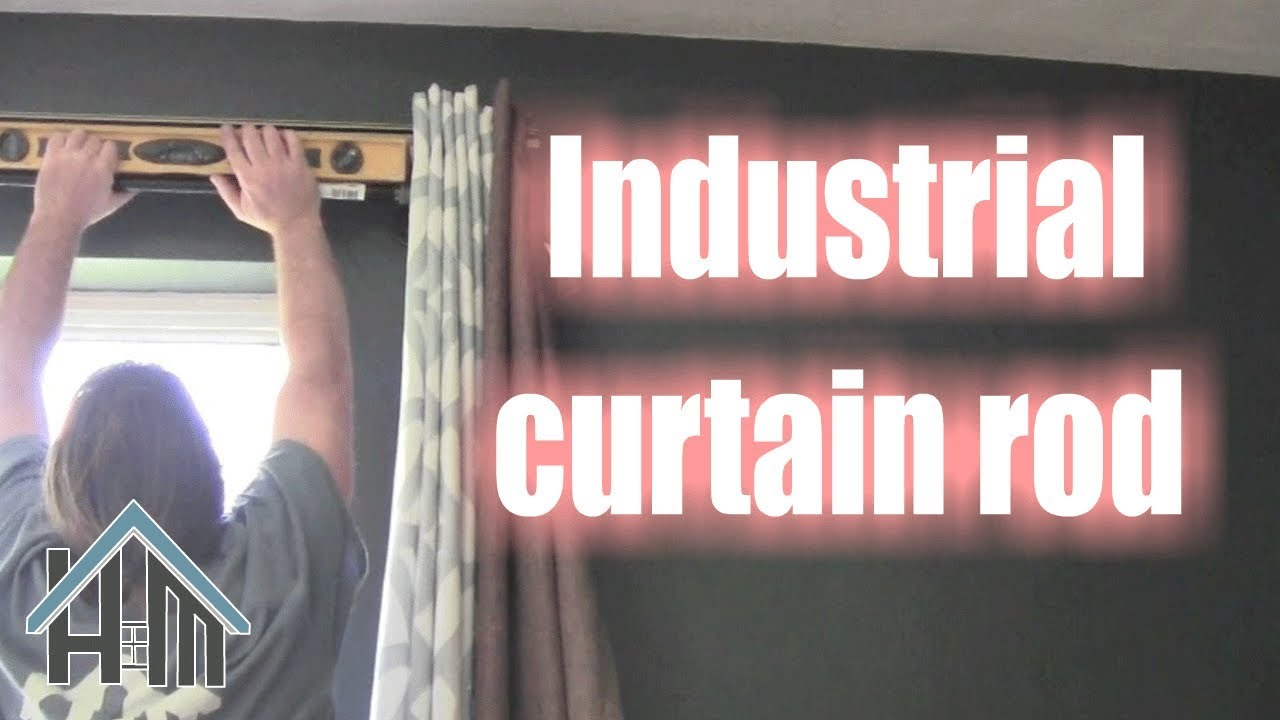 How to install industrial curtain rods. Easy! Home Mender. - YouTube