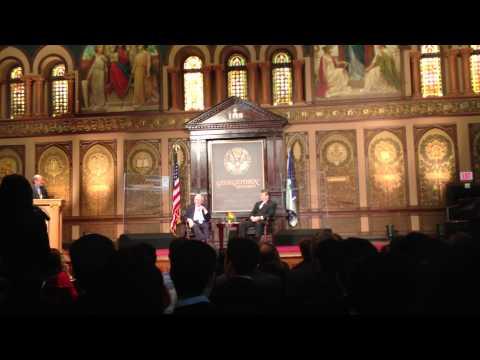 A conversation with Warren Buffett, Georgetown, 2013-9-20