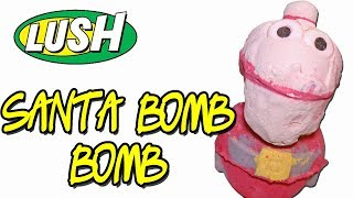 Lush SANTA BOMB BOMB Bath Bomb - CHRISTMAS DEMO & REVIEW Underwater View