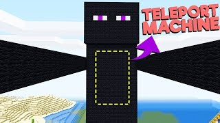 I Build an anywhere door to teleport inside Enderman (MINECRAFT)