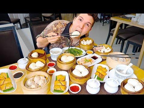 Giant Chinese Dumpling Buffet • All You Can Eat • MUKBANG