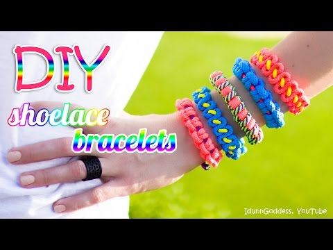 Diy Shoelace Celets How To Make Celet Out Of Shoelace Tutorial