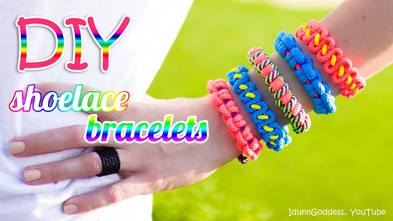 3 diy shoelace bracelets how to make a bracelet out of a for What can you make out of paracord