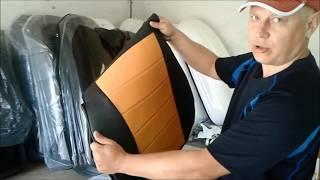 Чехлы Автопилот  Daewoo Nexia Черные С Оранжевым