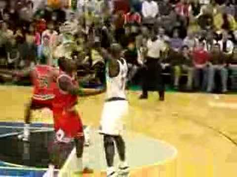 Foye to KG to Blount for the Dunk
