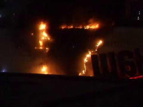 Пожар в ТЦ РИО Большая Черемушкинская, Крымская.