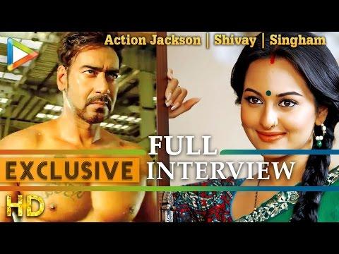 Full Interview - Ajay Devgn Sonakshi Sinha on Action Jackson   Shivay   Singham