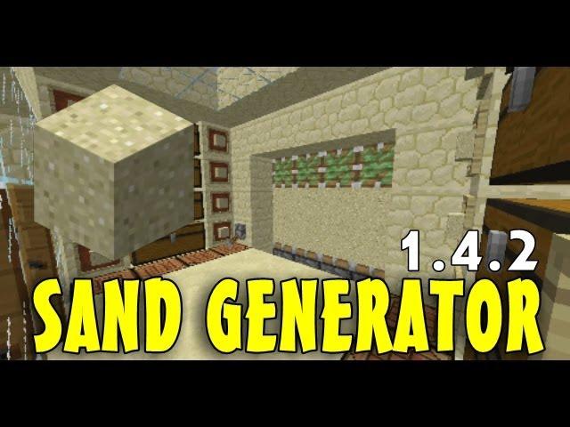 Minecraft Sand Gravel Generator Redstone Tutorials 1 8 Youtube