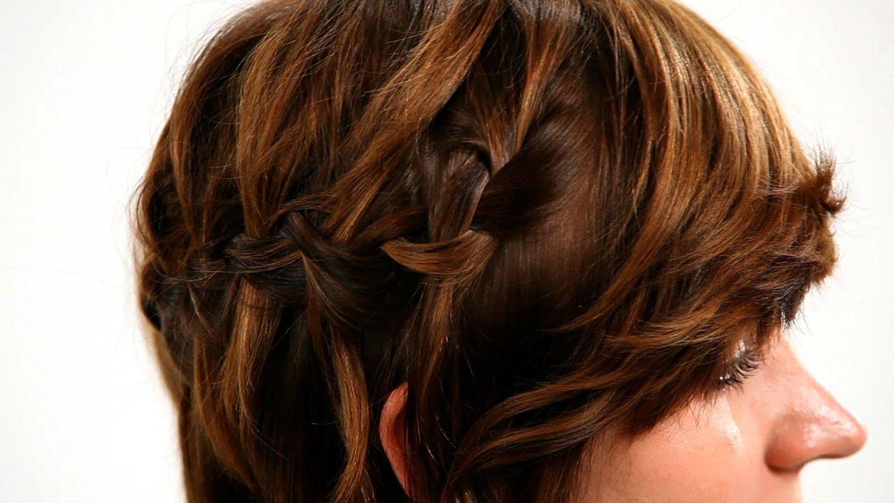 Hair Styles For Short Hair Braids: How To Waterfall Braid Short Hair