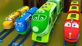 Choo Choo Train - Toy Factory Cartoon for Kids play with Color Train