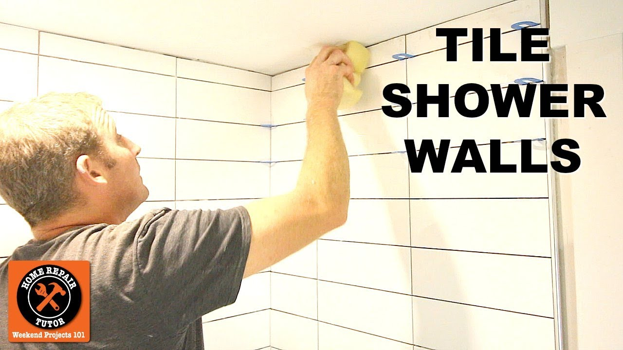 how to tile a shower wall stacked subway tile tips by home repair tutor
