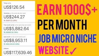 Create Micro Niche Job Site & Earn 1000$+ Per Month 😄 (New Tips & Tricks)
