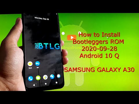 Samsung Galaxy A30: Bootleggers ROM Android 10 Q 2020-09-28