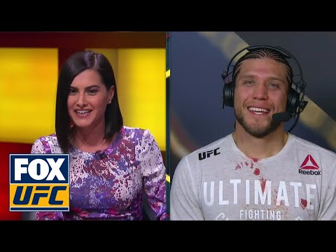 Brian Ortega post-fight interview | UFC FIGHT NIGHT
