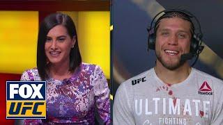 Brian Ortega Talks Cub Swanson Takedown Post-Fight | Interview | UFC FIGHT NIGHT