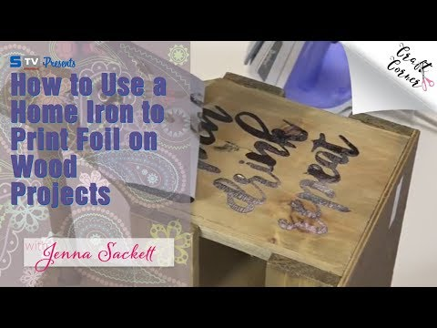 How to use a home iron to print foil on wood projects craft corner
