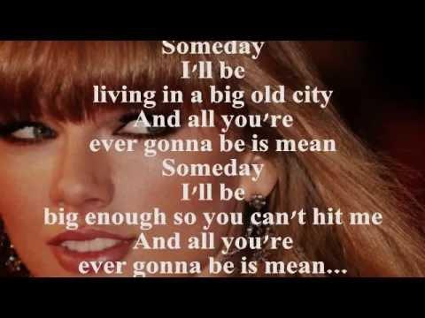 TAYLOR SWIFT - MEAN (Lyrics)
