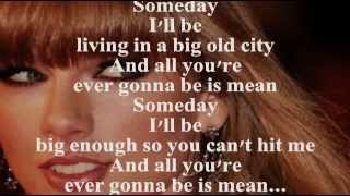 Repeat youtube video TAYLOR SWIFT - MEAN (Lyrics)