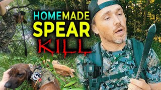 Guy SPEAR KILLS Deer With Homemade Spear | GRAPHIC | Survival Hunting