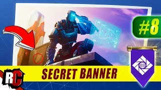 Secret Banner Location WEEK 8 Fortnite | Season 6 Hunting Party (Secret Battle Stars/Banners)