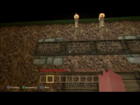 MINECRAFT PS3 HORROR MAP LETS PLAY DOWNLOAD LINK DISC AND DIGITAL