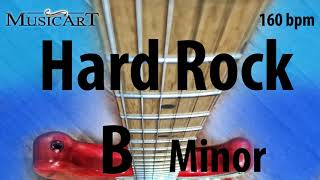 Super Hard Rock Backing Track in B minor, Melodic, Up Tempo