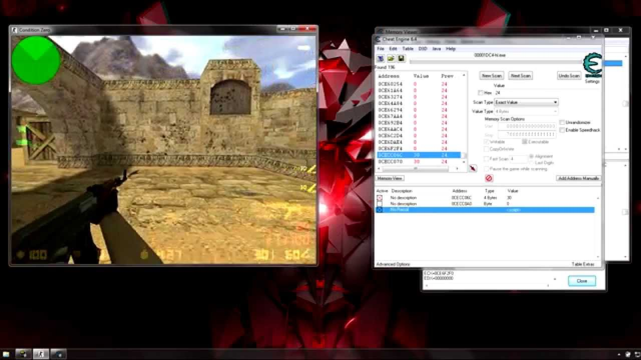 Cs 1 6 No Recoil W Cheat Engine Steam Youtube
