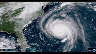 Stunning Satellite Time-lapse of Hurricane Florence's ENTIRE Life