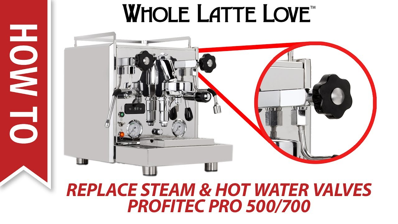 How To Replace Steam Hot Water Valves On Profitec Pro 500 And 700 Espresso Machine Diagram Machines