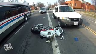 Motorcyclist Gets Pissed About Smash