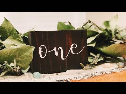 DIY Table Numbers | Rustic Wedding Decor | How to Stencil for Paint | Cricut Design Space