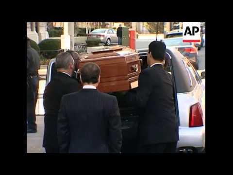 A mahogany casket bearing the body of Natasha Richardson has left the New York townhouse where stars